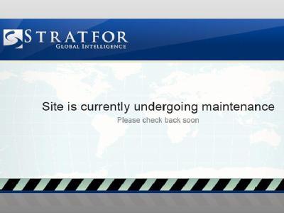 Offline: Die Internetseite der US-Sicherheitsfirma Stratfor. Foto:Stratfor