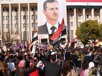 Assad-Anh�nger in Syrien