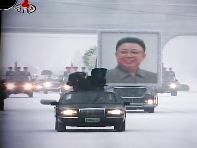 Mit einer öffentlichen Trauerfeier nimmt Nordkorea von Militärmachthaber Kim Jong Il Abschied. Foto: Yonhap News Agency/ Korean Central TV Broadcasting Station