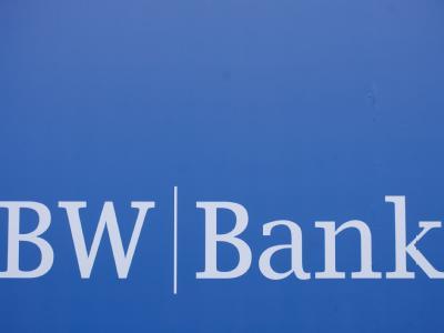 Das Logo der BW-Bank: Die Bank hatte Christian Wulff einen günstigen Kredit für sein Haus gewährt. Foto: Michele Danze