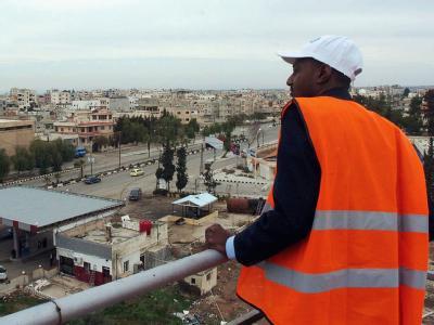 Ein Beobachter der Arabischen Liga in der syrischen Stadt Daraa. Foto: Syrian Arab news agency (SANA)