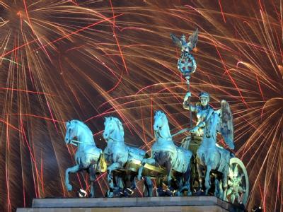 Jahreswechsel 2012 am Brandenburger Tor