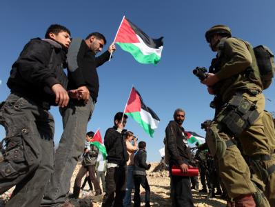 Israelis und Palästinenser