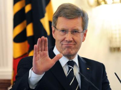 Bundespräsident Christian Wulff im Schloss Bellevue in Berlin. Foto: Rainer Jensen/Archiv
