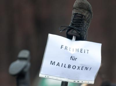 'Schuh'-Demonstration gegen Wulff