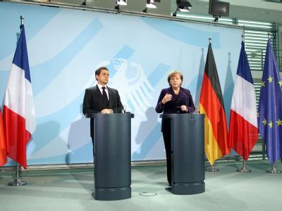Merkel empfängt Sarkozy