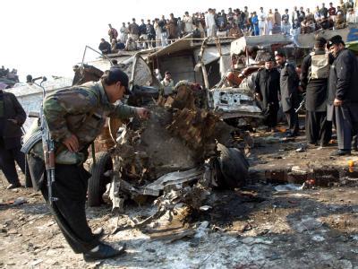 Bei der Explosion kamen mehr als zwei Dutzend Menschen ums Leben, 64 weitere wurden verletzt. Foto: Arshad Arabab