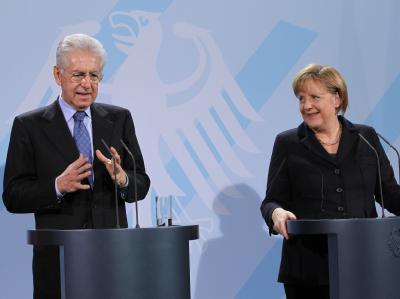 Merkel empf�ngt Monti