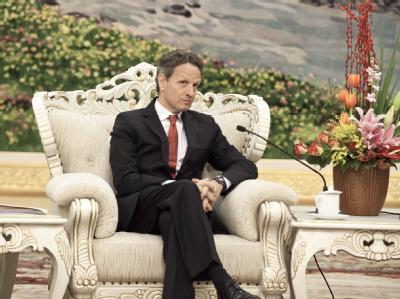 Timothy Geithner auf schwieriger Mission in China. Foto: Andy Wong