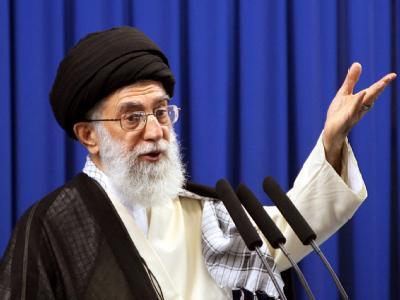 Erhielt eine direkte Warnung aus Washington: Religionsführer Ajatollah Ali Chamenei, oberste Autorität im Iran. Foto: Abedin Taherkenareh/ Archiv