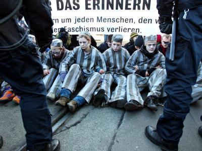 Protest gegen Neonazi-Aufmarsch