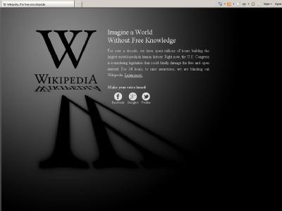 Der Screenshot zeigt die englischsprachige Seite von Wikipedia.