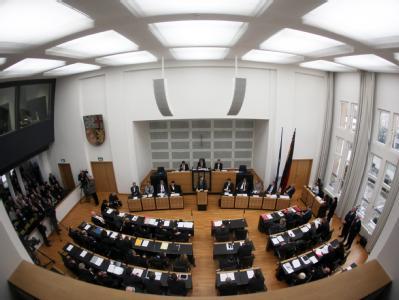 Der saarländische Landtag in Saarbrücken. Foto: Fredrik von Erichsen/Archiv