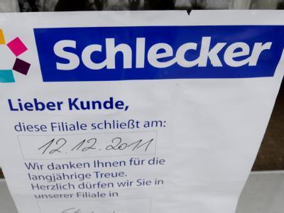 Schlecker hatte zuletzt über 1000 Filialen zugemacht und begonnen, sein altes Filialnetz zu sanieren. Foto: Franziska Kraufmann