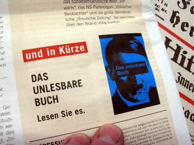 Hinweis in der Sammeledition «Zeitungszeugen» vom 05.01.2012. Foto: Stephan Jansen
