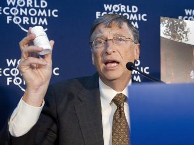Microsoft-Gründer Bill Gates und seine Frau Melinda spenden für den Kampf gegen Aids, Tuberkulose und Malaria mehr als eine halbe Milliarde Euro. Foto: Laurent Gillieron
