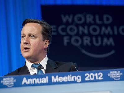 Der britische Premier David Cameron weicht bei der Euro-Rettung keinen Millimeter zurück. Foto: Jean-Christophe Bott