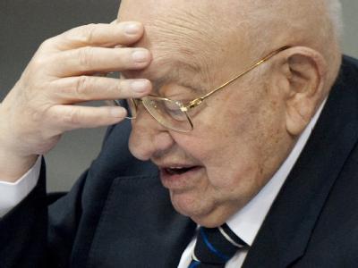 Marcel Reich-Ranicki beim Holocaust-Gedenktag. Foto: Sebastian Kahnert