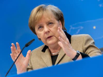 Bundeskanzlerin Angela Merkel bei einer Pressekonferenz nach dem Ende des EU-Gipfel in Brüssel. Foto: Felix Kindermann