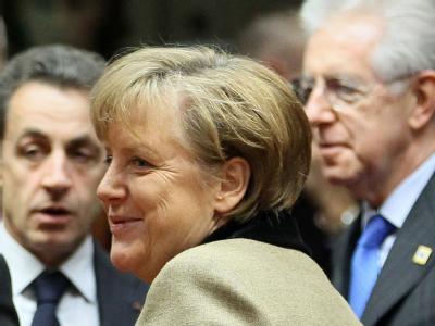 Kanzlerin Merkel auf dem EU-Sondergipfel in Brüssel
