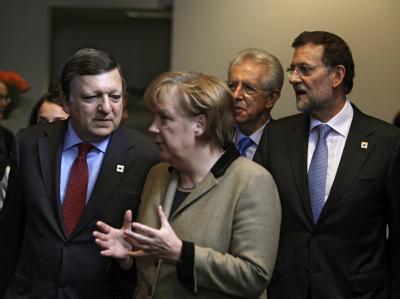 Bundeskanzlerin Merkel versucht, die Wogen in der Griechenland-Debatte zu glätten. Foto: Olivier Hoslet