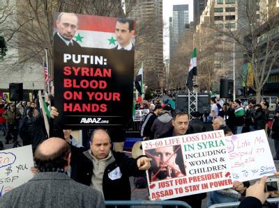 Protest vor UN-Sicherheitsrat