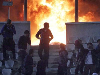Feuer im Stadion