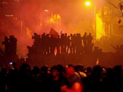 Krawalle in Kairo nach den blutigen Zusammenstößen im Fußballstadion. Foto: Mohamed Omar