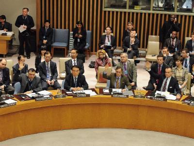 Abstimmung im UN-Sicherheitsrat über die Syrien-Resolution. Foto: Andrew Gambert