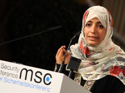 Friedensnobelpreisträgerin Tawakkul Karman