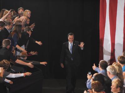 Mitt Romney ist auf der Siegerstraße. Foto: Michael Nelson