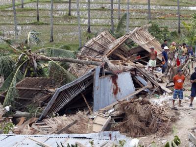 Zusammengestürzte Häuser