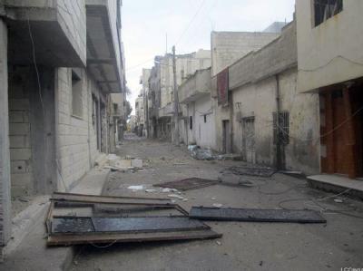 Zerstörungen in der Oppositionshochburg Homs: Foto: Undatiertes Bild des oppositionellen Netzwerks