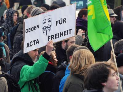 Anti-Acta-Demonstration in Berlin