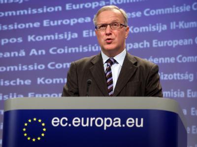 Olli Rehn zeigte sich zuversichtlich, dass Athen bis zum Treffen der Euro-Finanzminister an diesem Mittwoch in Brüssel alle Bedingungen erfüllt. Foto: Julien Warnand