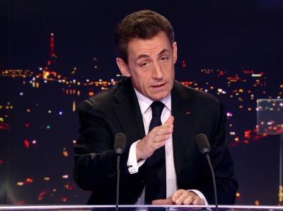 Frankreichs Präsident Nicolas Sarkozy hat seine Kandidatur für die Präsidentschaftswahlen im Frühjahr jetzt offiziell angekündigt. Foto: TF1
