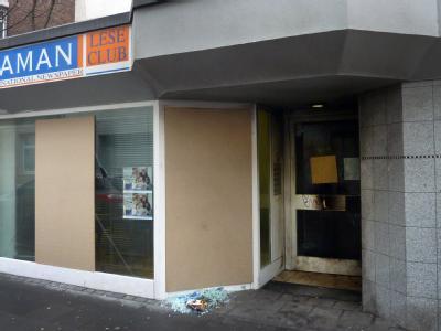 Auf die Räume der türkischsprachigen Tageszeitung «Zaman» in Köln ist ein Brandanschlag verübt worden. Foto: Frank Fuchs