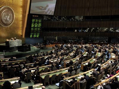 In der UN-Vollversammlung in New York stimmten 137 der vertretenen 166 Staaten für eine Resolution, die ein Ende der Gewalt und demokratische Reformen fordert. Foto: Justin Lake