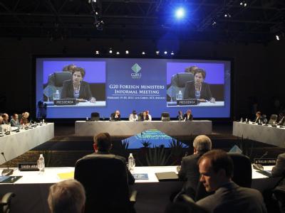 Er�ffnung der G20-Au�enminister-Konferenz