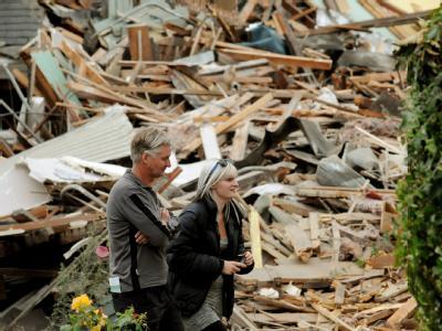 Vor einem Jahr erschütterte ein schweres Erdbeben die neuseeländische Stadt Christchurch. 185 Menschen starben. Foto: Tracey Nearmy/Archiv