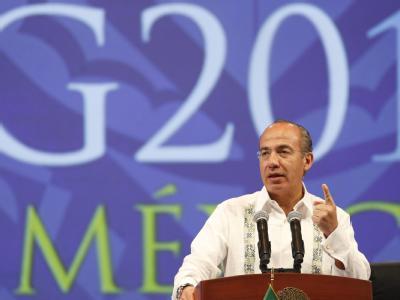 Mexikos Präsident Felipe Calderón will die internationalen Finanzinstitutionen stärken. Foto: Jose Mendez