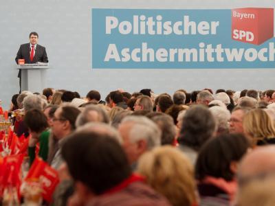 Die SPD gibt sich am Aschermittwoch selbstbewusst Foto: Armin Weigel