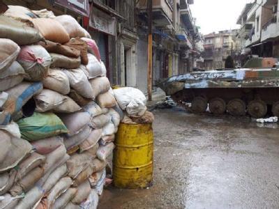 Straßenszene in der syrischen Stadt Holms. Foto: Local Coordination Committees/Archiv