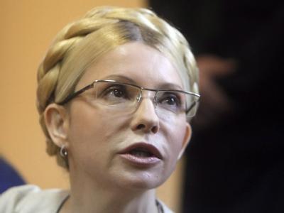 Die ukrainische Ex-Regierungschefin Julia Timoschenko am 11.10.2011 vor Gericht in Kiew.  Foto: Sergey Dolzhenko
