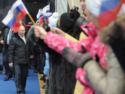 Putin trifft Fans