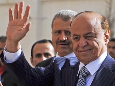Hat Grund zur FreUde: Den bisherige Stellvertreter von Langzeitherrscher Salih ist zum Übergangspräsidenten gewählt, Abed Rabbo Mansur Hadi. Foto: Yayha Arhab/Archiv