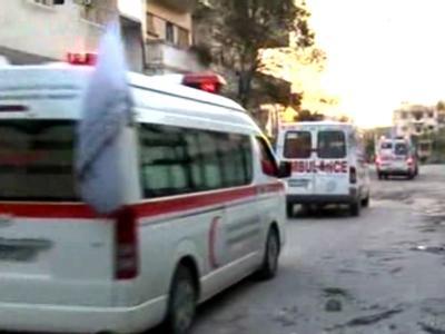 Video-Bilder: Nach Angaben der offiziellen Nachrichtenagentur SANA wurden einige Verletzte in Hospitäler gebracht. Foto: SANA