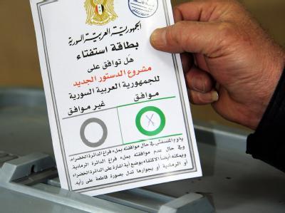 So sieht der Stimmzettel für das Referendum aus. Foto: SANA