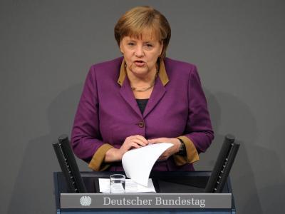 Die fehlende Kanzlermehrheit bei der Griechenland-Abstimmung ist nicht das Ende der Koalition. Merkel ist hart im Nehmen und muss den Euro retten. Mit der FDP hat sie aber noch eine Rechnung offen. Foto: Hannibal