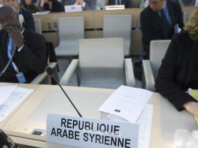 Das syrische Assad-Regime steht im UN-Menschenrechtsrat am Pranger. In einer scharfen Resolution soll das blutige Vorgehen gegen Zivilisten verurteilt werden. Foto: Salvatore di Nolfi